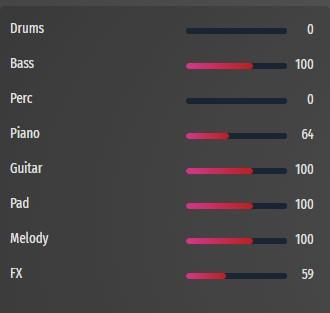 stock music mixer