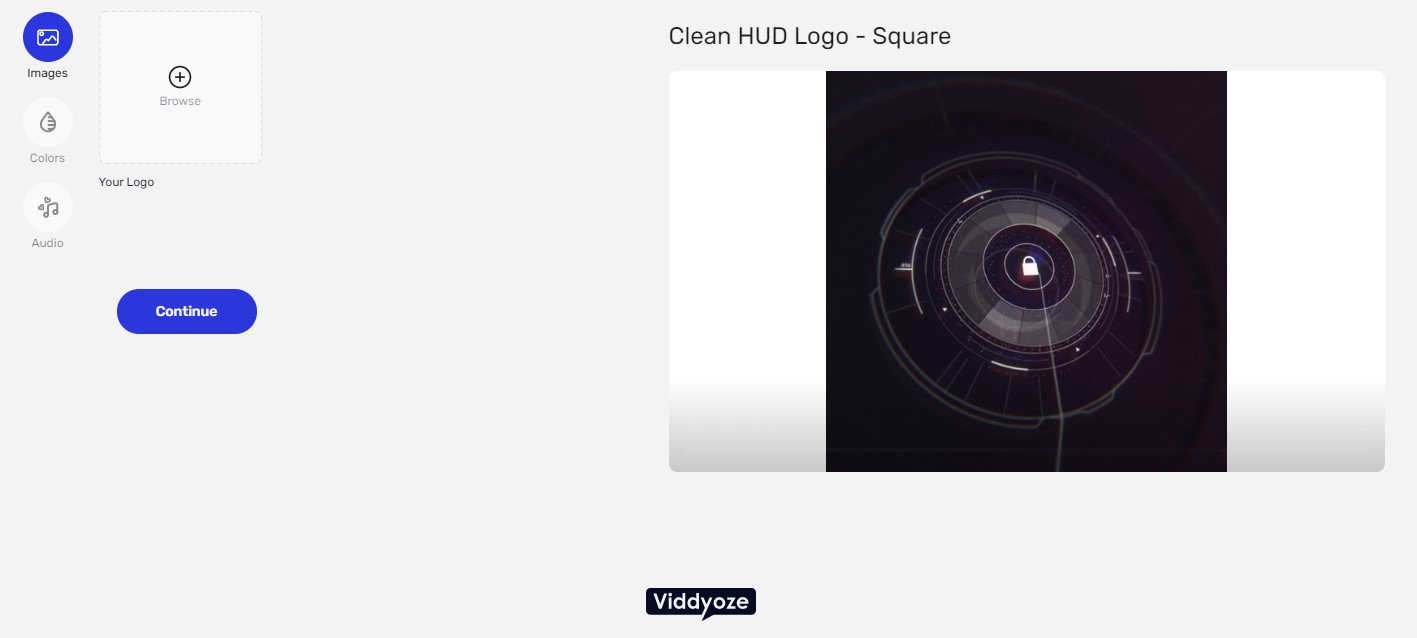 viddyoze video screen add stock music